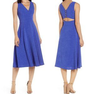 Vince Camuto || NEW Button Back Fit & Flare Dress